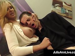 Julia Ann is a going to bed blondie female, who loves to touch boners and make them pour widely