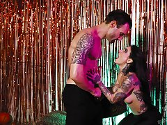 Joanna Angel rides her lovers big cock in an erotic porn video