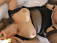 Sultry old-fashioned lady gangbang video