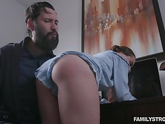 Behaving erroneously pigtailed girl Lily Glee gets fucked doggy as chastisement