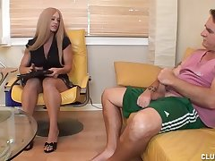 Milf Candy decides that her client needs some unearth loving diligence