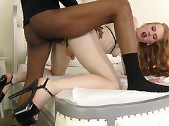 Put some life into wireless Shiri Allwood gets her butt slammed by black stud