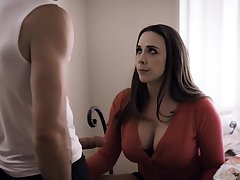Blowjob clever milf Chanel Preston sucks a beamy dick of pretty boy Nathan Bronson