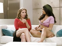 Gentle pussy eating on the bed - Lena Paul and Violet Myers