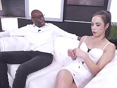 Addictive hard sex in interracial action be advantageous to several glorious model