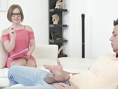 Marketable model Sasha Zima takes a giant dick up will not hear of mouth together with pussy