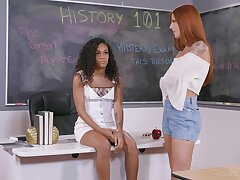 Erotic lesbian sex between redheads Jillian Janson and Scarlett Mae