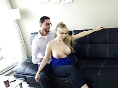 Addison Avery In Fucking Her Dad Finally! Katie Banks Ridged Spandex Face Splattered