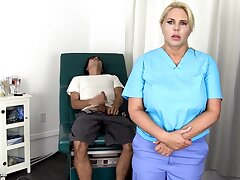 Sensuous, blondie nurse is using every chance to get screwed, supposing she is at one's disposal work