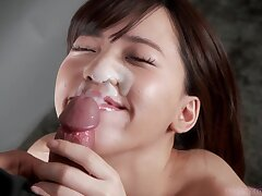 Asian Woman Takes a Thick Facial