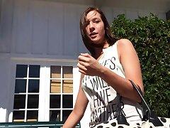 Homemade POV video of cute brunette Molly Manson arrogantly head