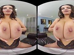 POV VR hardcore nearly busty brunette diva Ava Addams - pornstar