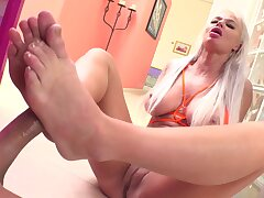 Cock Hungry London Tributary Gets Big Cock Coupled with Dildo Up Her Ass