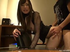 Dialectic Japanese escort Kaede Mai moans during hardcore sexual relations