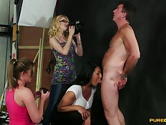 CFNM video be beneficial to sex-crazed April Paisley and her friends giving a blowjob