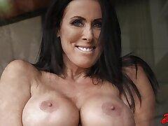Hardcore fucking with skit boobs wife Reagan Foxx on the sofa