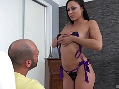 Small boobs cutie Cassie Toneless moans not later than passionate lovemaking