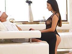 Seductive pornstar Alyssia Kent drops will not hear of underwear for amazing coition