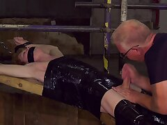 Senior gay man acts dominant with twink's big unearth