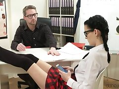 Spanking be fitting of decayed schoolgirl