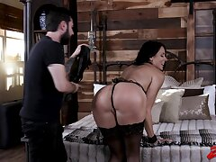 Submissive wife Reagan Foxx enjoys being tied up, spanked plus fucked