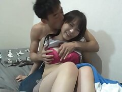 Curvy Asian endures dick in in every direction respects for her tight holes
