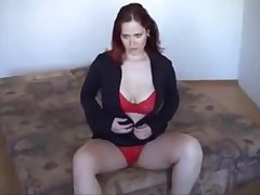 PAWG mature sleet before photoshoot wet black dress red uw