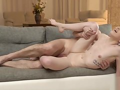Old daddy creampies son new go steady with after amazing sex