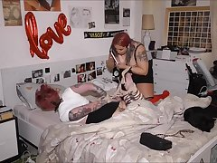 Alessandra discovers Alison painfully tied on will not hear of bed coupled with enjoys!!