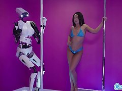 Camsoda - Sex Robot Vs Human Twerk Dirty Talk and Turning-point Melee