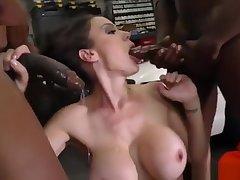 McKenzie Lee Gangbang by Black cocks