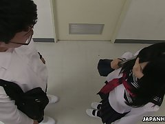 Spoiled though regressive looking Asian gal Sayaka Aishiro gives a enough blowjob